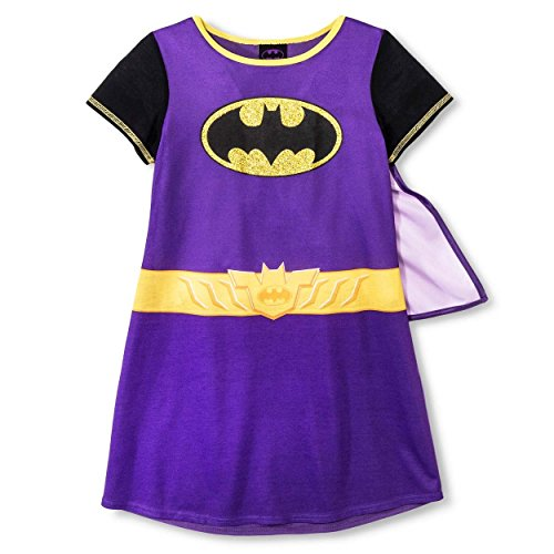 DC Comics Yankee Toy Box Batgirl Girls Nightgown Dorm with Cape (6-6X  Costume Cape Purple) ()