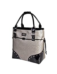 """Elle Deluxe Rolling 15.6"""" Notebook Tote (Ell0112 PEWTER) - Pewter"""