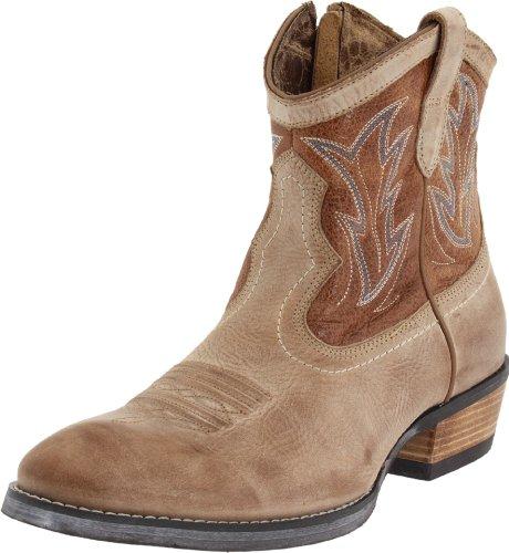 Ariat Women's Billie Western Boot,Tan Brunido/ Pebbled Tan,9.5 M US (Shotgun Boots)