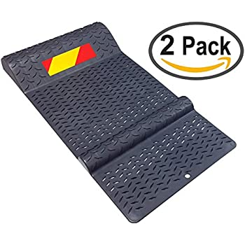 Pair Of Plastic Park Right Parking Mat Guides For Garage Vehicles, Antiskid  Car Safety