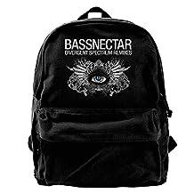 VCARETF Canvas Backpacks Bassnectar Divergent Spectrum Symbol Canvas Backpack Travel Rucksack Backpack Daypack Knapsack Laptop Shoulder Bag