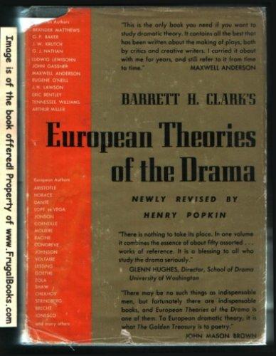 European Theories of the Drama