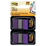 6 Pack Standard Tape Flags in Dispenser, Purple, 100 Flags/Dispenser by 3M (Catalog Category: Labels, Label Makers, Tags & Stamps / Tape Flags)