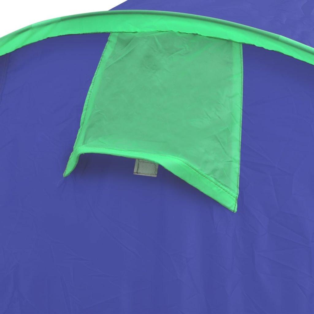 vidaXL Tienda de Campaña 4 Personas Azul Marino / Verde: Amazon.es ...