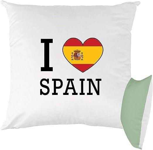 Mygoodprice cojín Bicolor Estampado 40 x 40 cm Bandera I Love España: Amazon.es: Hogar