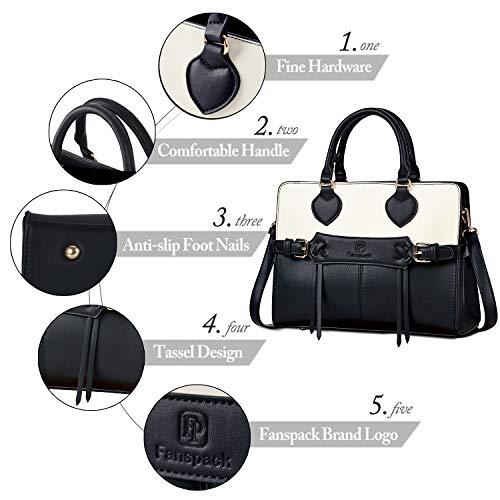 d9814ce81ef7 Fanspack Purses and Handbags for Women Fashion Ladies PU Leather Top Handle  Satchel Shoulder Bags Tote Bag