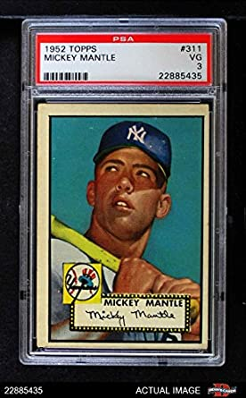 Amazoncom 1952 Topps 311 Mickey Mantle New York Yankees