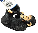 Jungle Ape N Grape Drunk Monkey Chimpanzee Wine Holder Figurine Sculpture Kitchen Hosting Home Decor Great Gift For Zoo Fans Monkey Lovers Housewarming