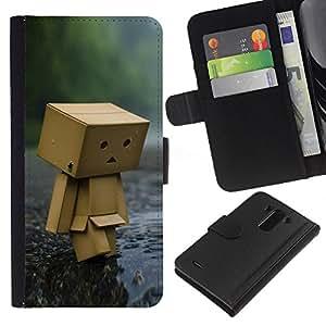 All Phone Most Case / Oferta Especial Cáscara Funda de cuero Monedero Cubierta de proteccion Caso / Wallet Case for LG G3 // Toy Figurine Wood Forest Rain Art Modern