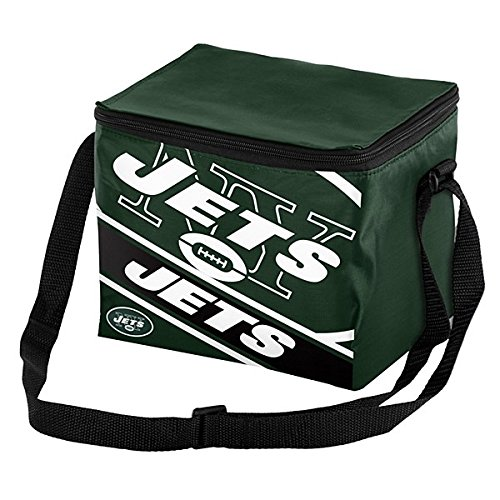 Forever Collectibles Unisex 6 Big Logo Stripe 6 Pack Kühler, New York Jets, One size