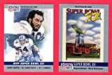 1990 Pro Set Football (Super Bowl #12) **** (2) Card Lot featuring Super Bowl MVP Randy White, Harvey Martin and Super Bowl Program Cover (Cowboys) (Broncos)