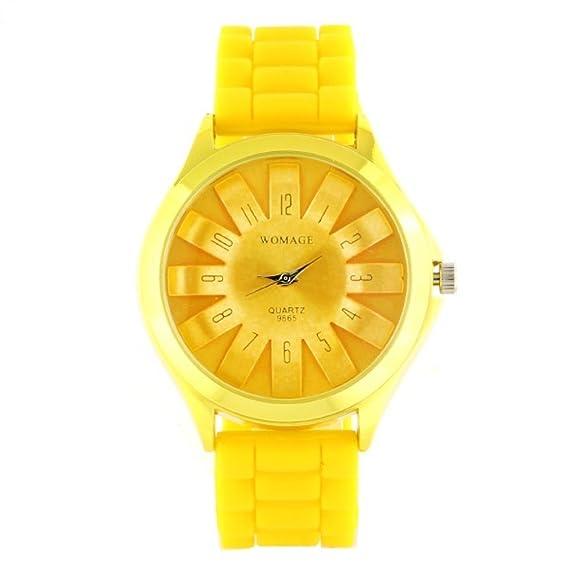 Reloj amarillo Fantasía Womage silicona Mujer My-Montre: Amazon.es: Relojes