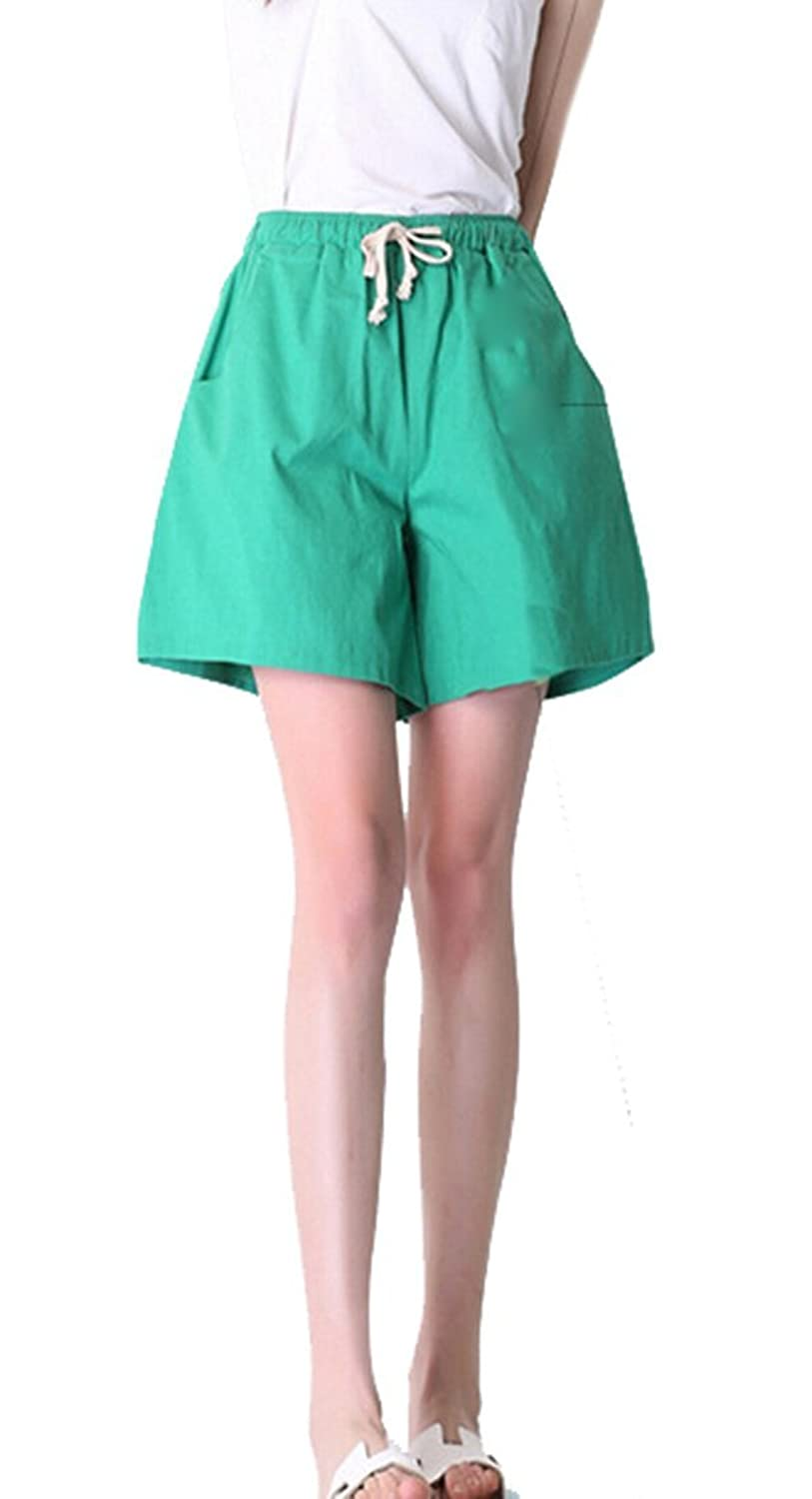 XQS Womens Cute Loose Plus Size Adjustable Waist Shorts
