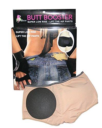 Butt Booster - Super Low Rise Lift the Hip Pants, Large, Black ()