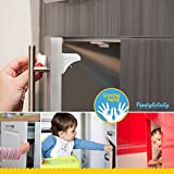 Baby-Proof-Magnetic-Cabinet-Locks-by-Forstyle-Safety-No-Tools-or-Screws-Needed-8-Locks-2-Keys-3M-Adhesive-Tape-Free-3-Prong-Plug-Protector-Keep-Your-Baby-Safe-Out-of-Cupboards-Drawers