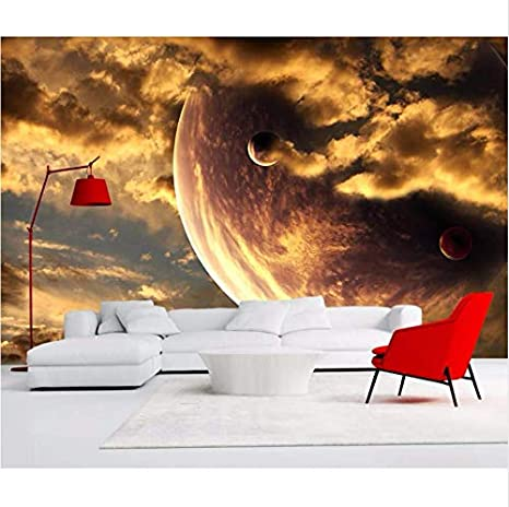 Hyf Wallpaper Golden Yellow Aesthetic Atmosphere Starry Clouds