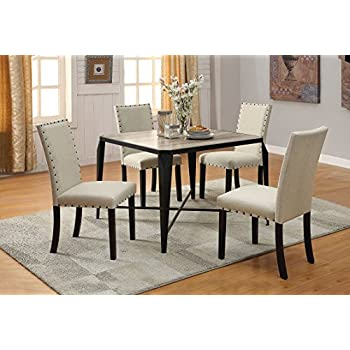 ACME Furniture 71920 Oldlake Dining Table, Antique Light Oak U0026 Black