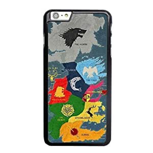 Custom made Case,Map of Territories in Game of Thrones PC Plastic Cell Phone Case for iPhone 6 6S plus 5.5 inch,Black Case With Screen Protector (Tempered Glass) Free S-6632196