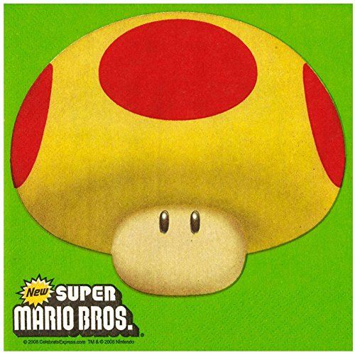 [Super Mario Bros Party Supplies - Lunch Napkins (20)] (Halloween Costumes To Find In Your Closet)