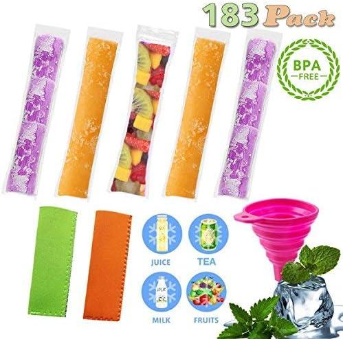 exsport 180 pcs Popsicle Moldes bolsas sin BPA y aprobado por la ...