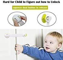 Baby Child Pet Proof Cabinet Door Safety Kitchen 5x Stick on Cupboard Locks NEW