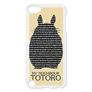 Totoro Snap-on Hard Back Case for iPod Touch 5 5th Gen,Waterproof Hard Plastic Cover Phone Case For Ipod Touch 5,Totoro Case Cover Protector for iPod Touch 5/5th Generation (Black/White)
