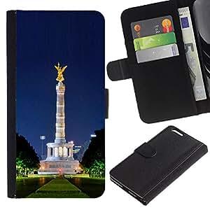 JackGot ( Architettura ) Apple (5.5 inches!!!) iPhone 6+ Plus / 6S+ Plus la tarjeta de Crédito Slots PU Funda de cuero Monedero caso cubierta de piel