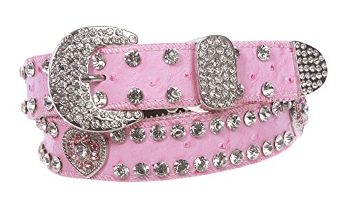 Buckle Belt Heart Rhinestone - Kids 1 1/16