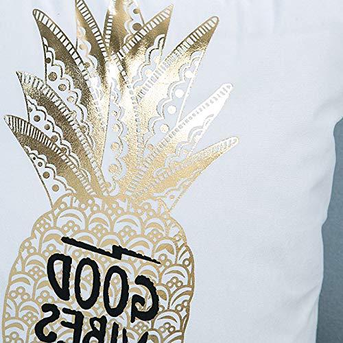 timorr algodón piliow funda oro piña patrón funda para cojín ...