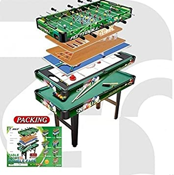 9 en 1, mesa multijuego, futbolin, billar, hockey, ping pong: Amazon.es: Juguetes y juegos