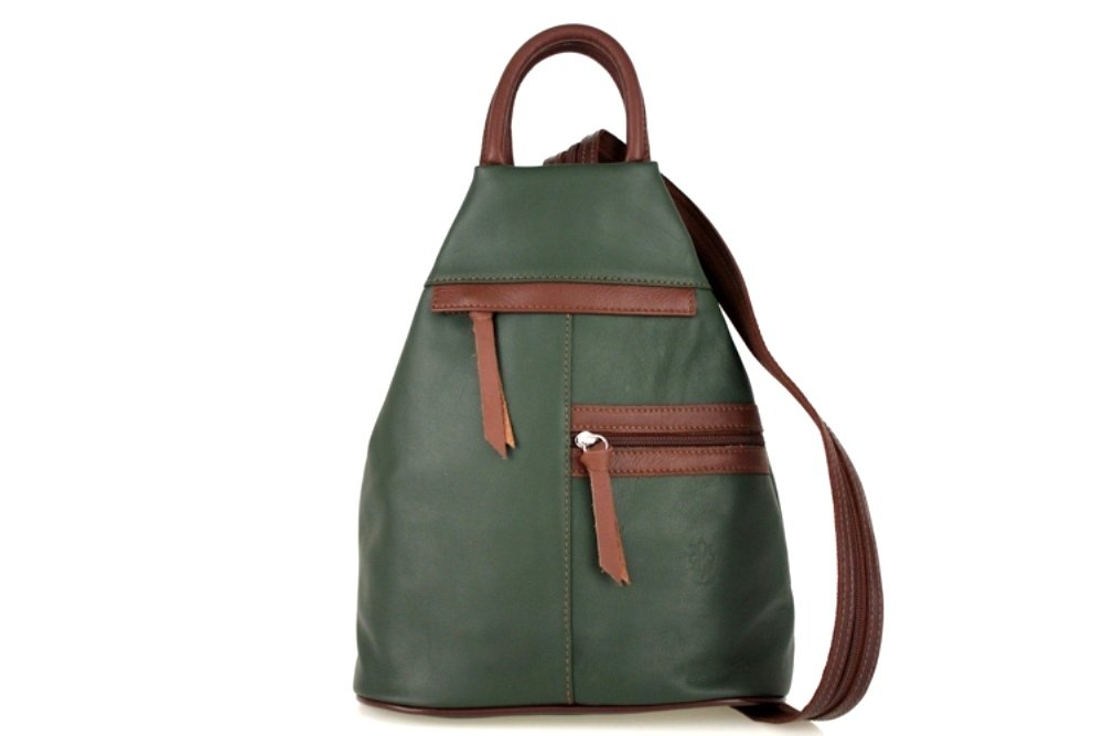 ZETA SHOES dam ryggsäck dam väska läder dagväska ryggsäckar MainApps Grön
