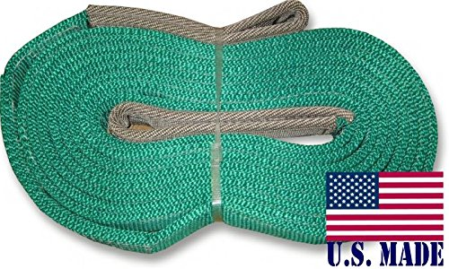 U.S. made XD RECOVERY STRAP – TWO-PLY (2 inch X 30 ft) (OFF-ROAD RECOVERY)