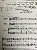 img - for Draw Nigh and take the Body of the Lord (Anthem for SATB and Organ) book / textbook / text book