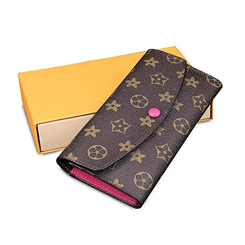 Olyphy Retro Wallet for Women, Long Wallet Clutch Credit Card Holder Tri-fold Purse