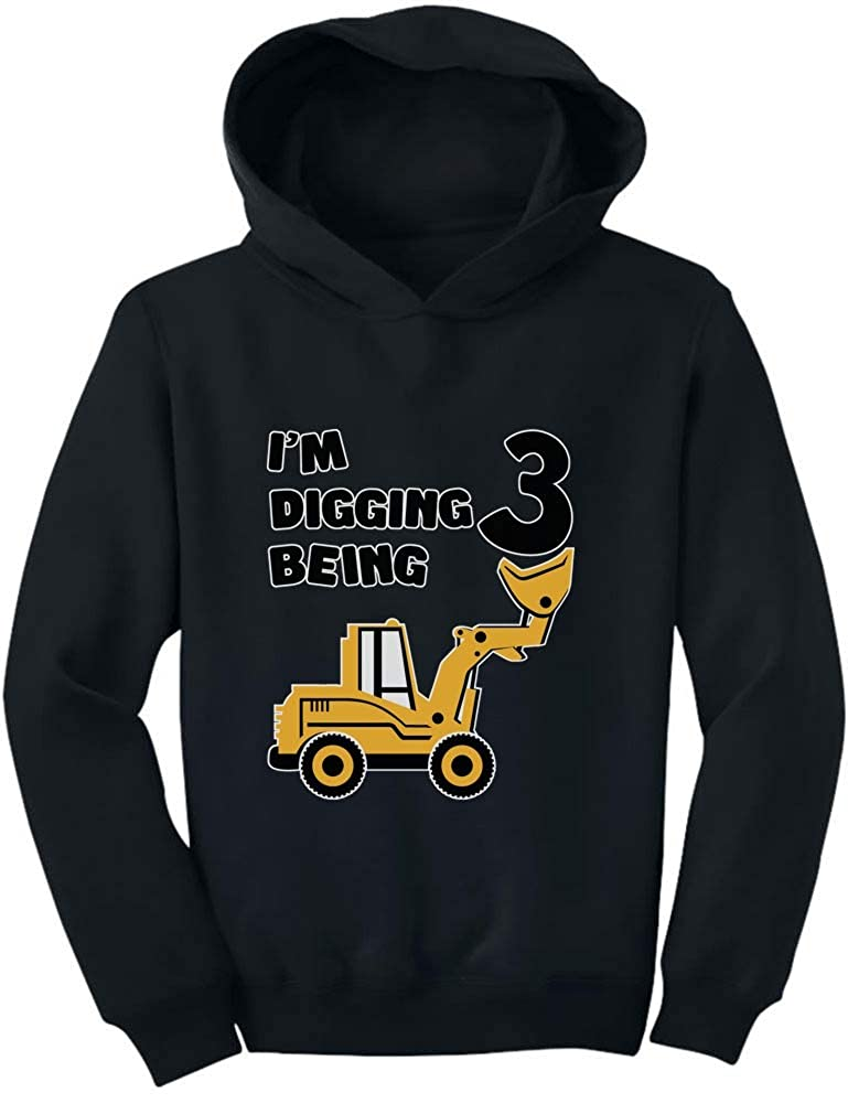 TeeStars - 3rd Birthday - Bulldozer Construction Party Cute Toddler Hoodie 4T Black G0PMh3rgvmPlvm9ho