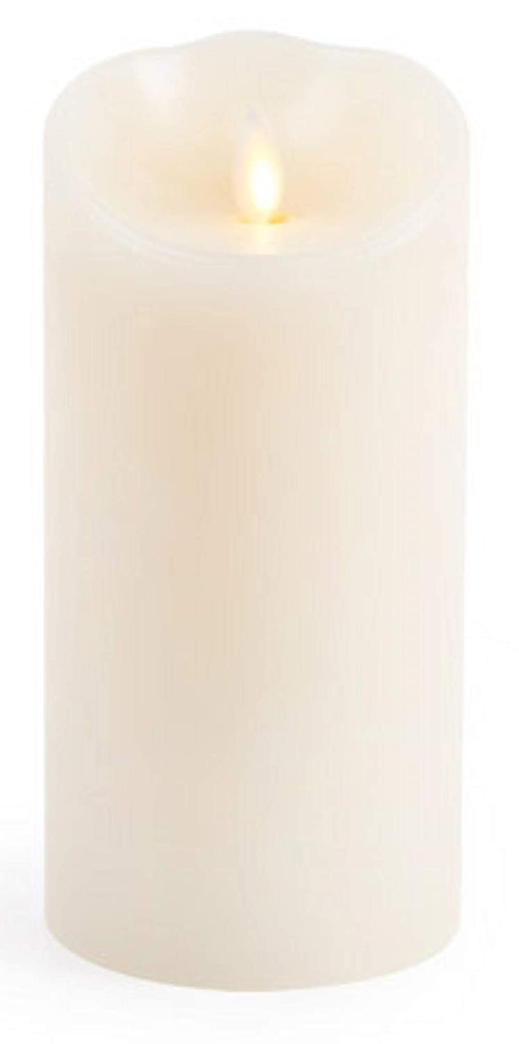 Luminara Flameless Candle Unscented Moving Flame Candle with Timer 7 Ivory
