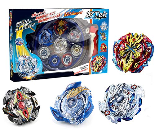 Bey Battle Gyro Burst Battle Evolution Attack Pack for Battling Top Game Included 4X Burst Gyro,2X Launcher,1x Stadium,4X Stickers