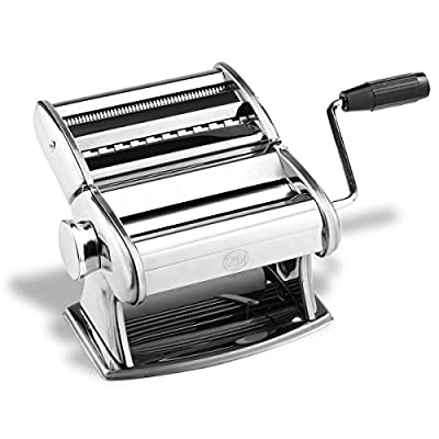 G&M Professional Pasta Maker Machine with Hand Crank