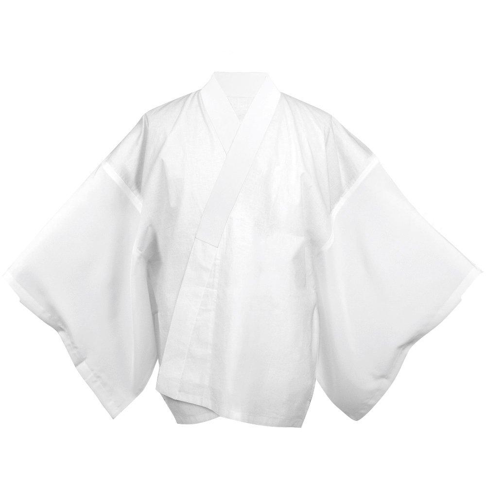KYOETSU Men's Japanese Summer Kimono Undergarment Short Type Hanjuban (Large)
