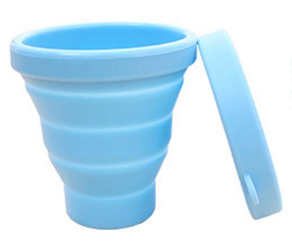 Outdoor Travel Cup Portable Eco silicone pieghevole Cup telescopico Cup (170ML) Blue Wenwan