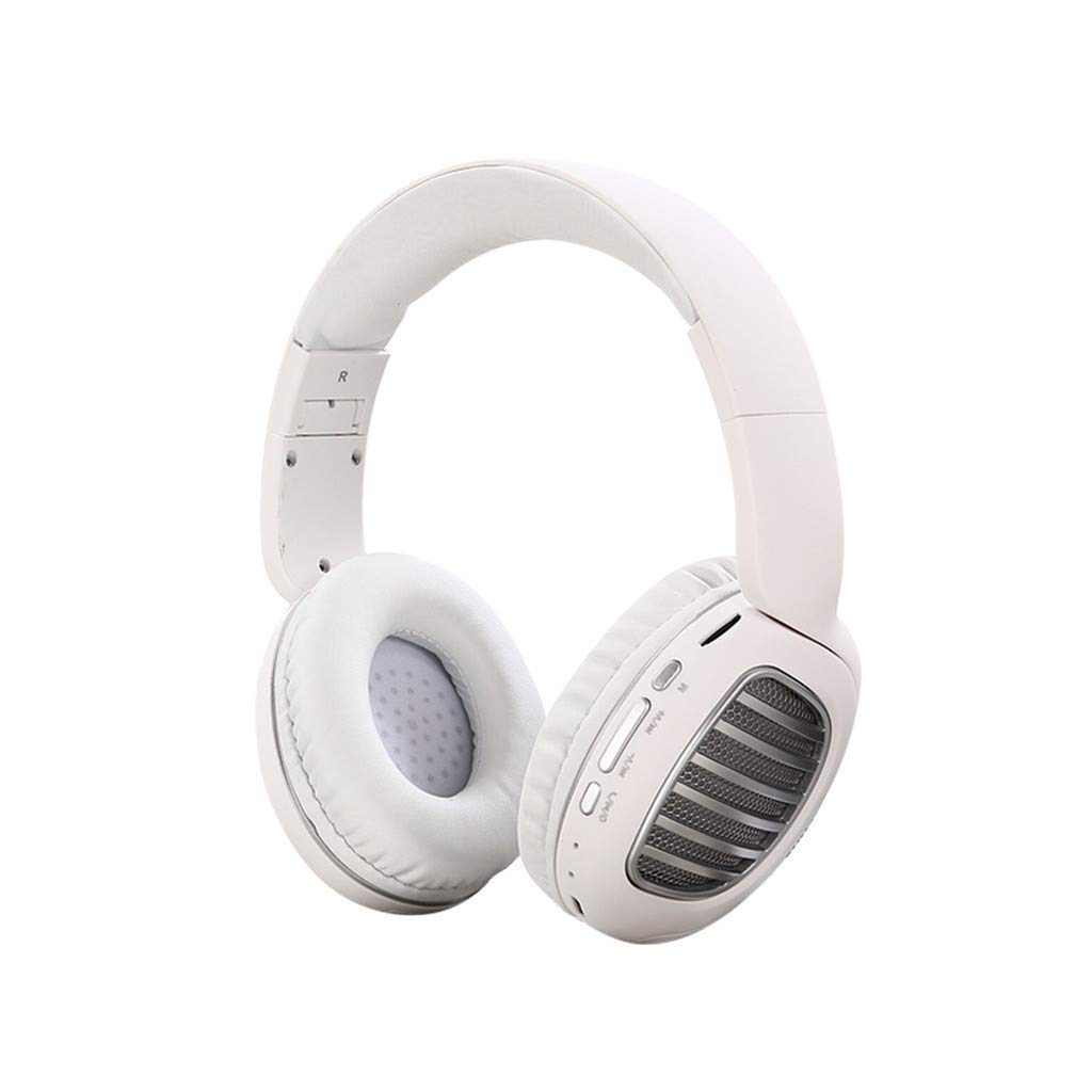 Four Color Head-Mounted Headphones,Roisay Over-Ear Foldable Space-Saving Design Headphones Wireless Bluetooth 4.2 Stereo Headset Built-in CVC 5.0 Dual Microphone