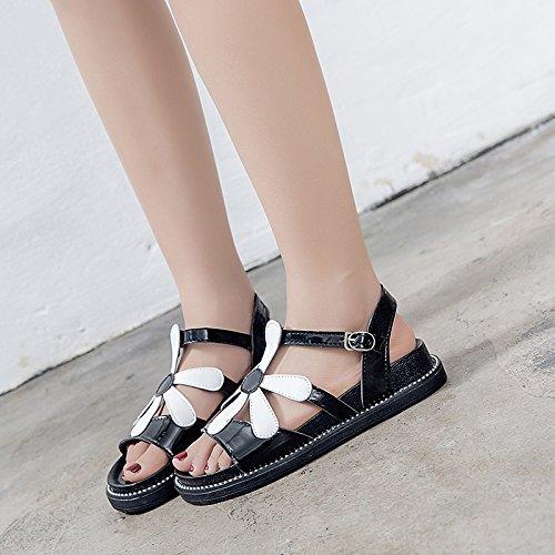 Shoes Fondo Ocio 35 Playa Sandalias Verano Dama EU YMFIE Toe EU Plano Antideslizante 35 Moda Toe T1FxPWwRq