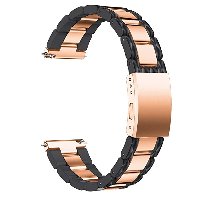 Kiorc Stainless Steel Quick Release Fit Wirstband for Samsung Galaxy Watch 42mm