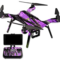 MightySkins Protective Vinyl Skin Decal for 3DR Solo Drone Quadcopter wrap cover sticker skins Purple Tree Camo