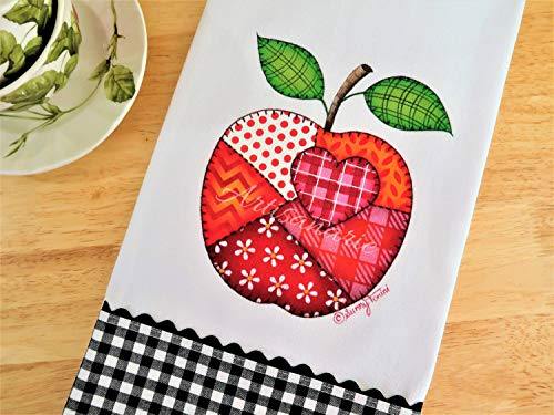 Decorative Painting E-Pattern Packet - Fabric Painting Pattern PDF Download - Tole Painting - Decorative Art Instructions - Patchwork Apple