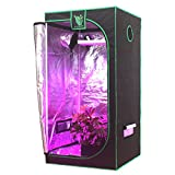 Cheap G-LEAF 32″x32″x64″ Horticulture Reflective 600D Diamond Mylar Window Grow Tent Non Toxic Hydroponic Indoor Room (2.67'x2.67′)