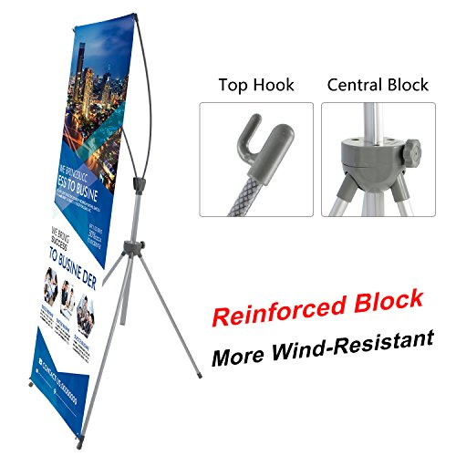 T-Sign Reinforced Block Adjustable Tripod X Banner Stand Fits Any Banner Size from 23