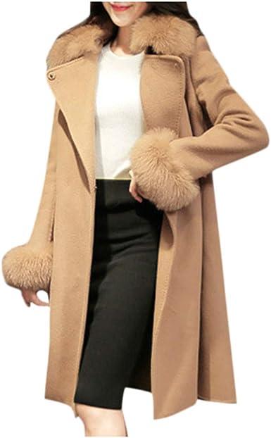 ZEFOTIM Winter Lady Womens Warm Long Faux Fur Coat Jacket Parka Outerwear