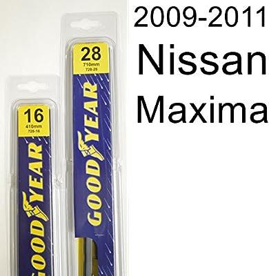 "Nissan Maxima (2009 - 2011) limpiaparabrisas Kit - Set incluye 28 ""("