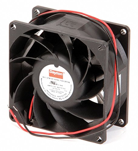 Dayton 2RTH6 Axial Fan, 3 1 8 In Sq, 84.1 CFM, 24 V DC